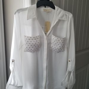 Reduced-Michael Kors Blouse NWT Sz Large